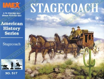 IMEX517 American History Series Stagecoach 1:72 Scale